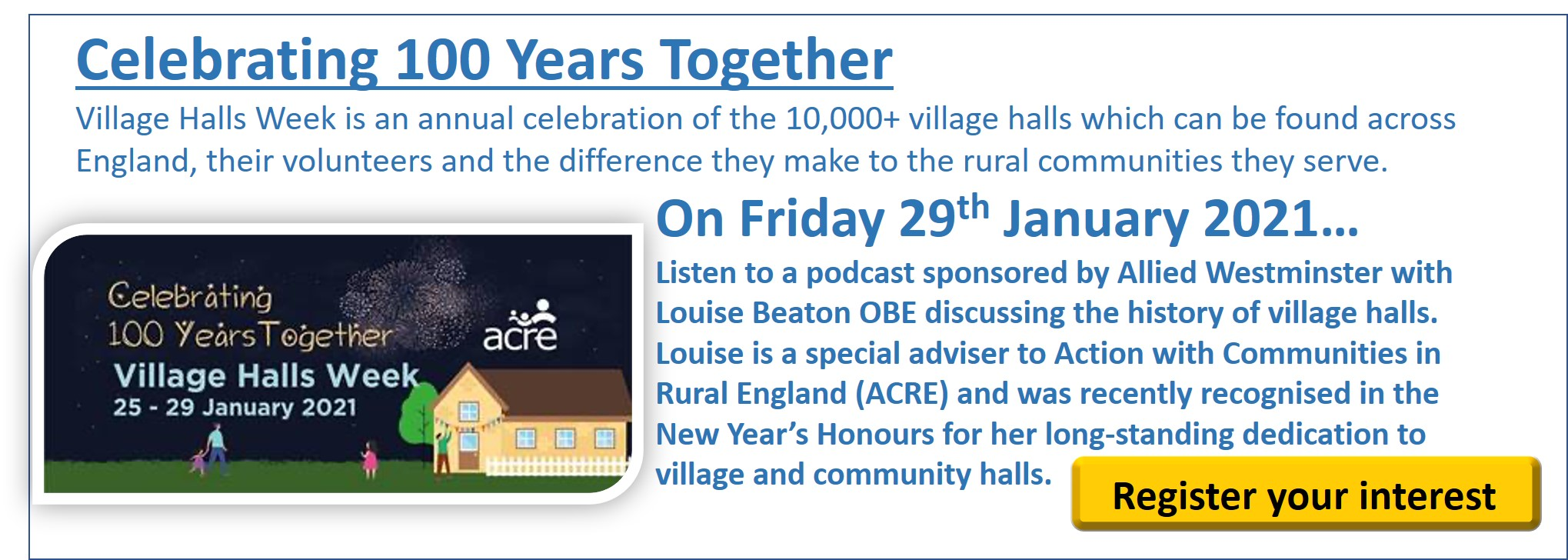 100 Years of Village Halls podcast